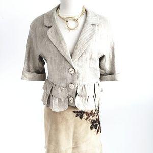 Cynthia Steffe 100% Linen Summer Jacket